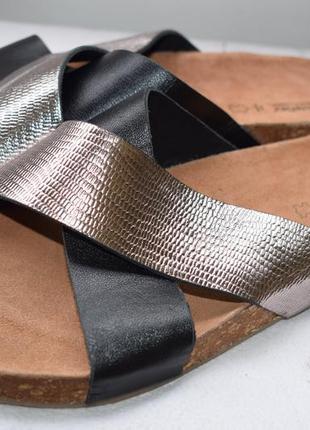 Кожаные шлепанцы шлепки сланцы тапки soleflex р.42 27,5 см