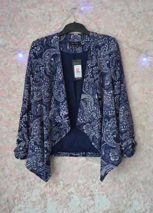Элегантный крутой жакет пиджак с асимметричной длинной