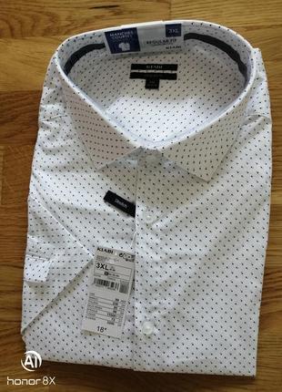 Рубашка  короткий рукав kiabi regular fit