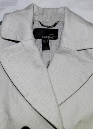 Белое пальто mango2