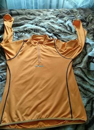 Тао техническая одежда mockneck циппер  оранжевый черный отражающий longsleeve поло спортивная одежда