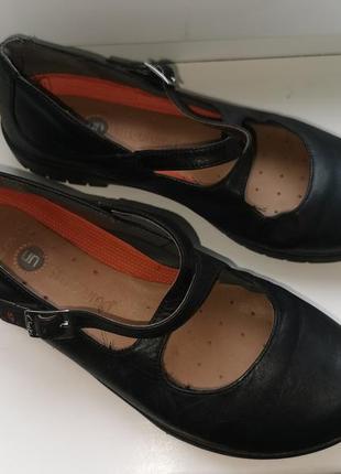 Кожаные туфли clarks p 5.5