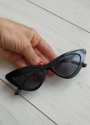 Уценка! очки лисички, кошечки, солнцезащитные очки кошачий глаз cat eyes
