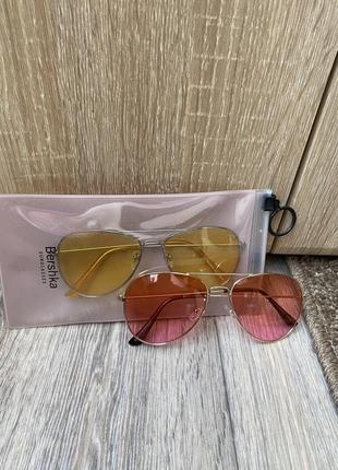Цветные очки авиаторы