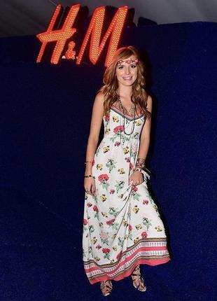 Сарафан миди h&m платье в цветочный принт