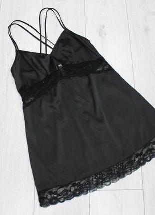Красивая, черная ночнушка с кружевом esmara