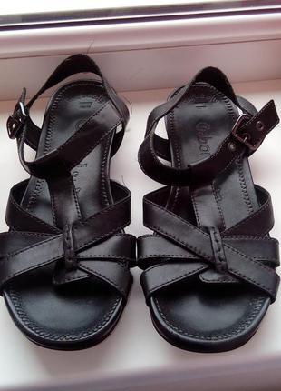 Кожаные босоножки,сандалии gabor,26см