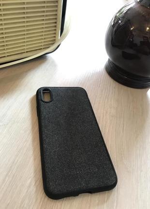 Красивый тканевый чехол baseus для iphone x/xs