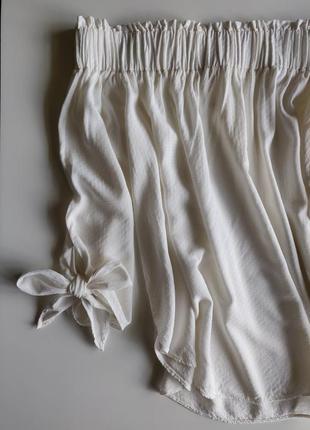 Кофта-блузка с опущенными плечами цвет молочный h&m