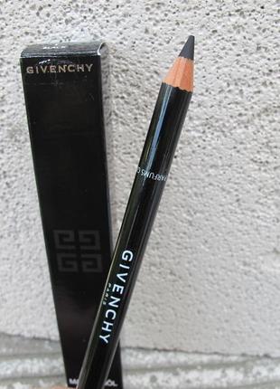 Контурный карандаш givenchy magic khol eye liner pencil номер 1 чёрный