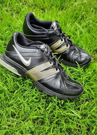 38,5- 39 р. кроссовки кожаные черные nike air max