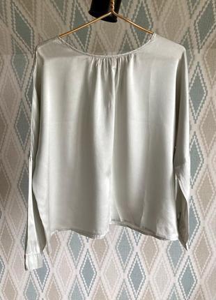 До 21/06! жемчужная шелковая блуза oversized шведского дизайнера cica marticki (feeling fame)