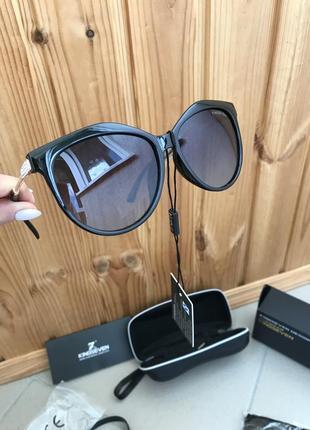 Женские солнцезащитные очки в классической оправе с градиентными линзами кошачий глаз kingseven италия