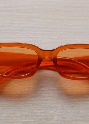 Квадратные очки, имиджевые очки, солнечные очки, оранжевые очки