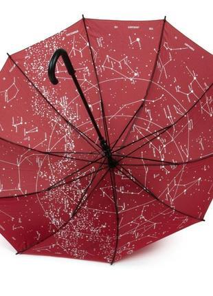 Жіноча парасоля,  тростина,  10 спиць з вітрозахистом