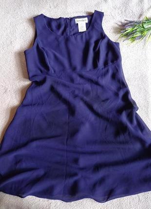 Красивое фиалковое платье