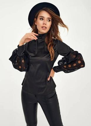 👑 блуза с объемными рукавами