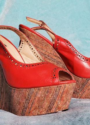 Туфли, босоножки на платформе,  танкетке