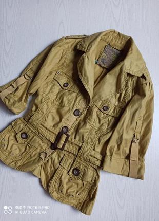 Пиджак женский жакет укороченный хлопок