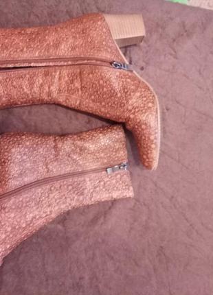Кожаные полусапожки ботинки2