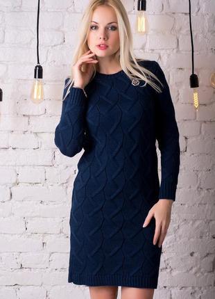 Теплое зимнее платье pr8741, разные цвета, р.s-m универсальный