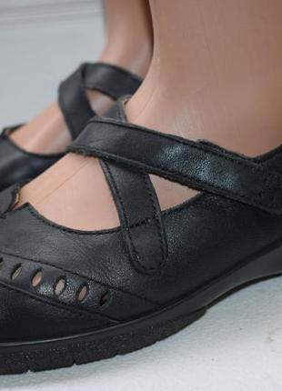 Кожаные туфли мокасины балетки лодочки hotter хоттер р.42 27 см