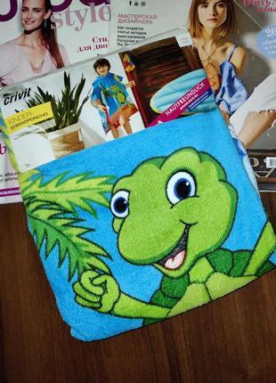 Детское полотенце пончо с капюшоном