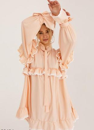 Неймовірна сукня / свободное платье с ажурным кружевом