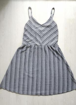 Платье-сарафан в полоску