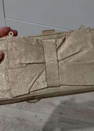 Блестящий клатч сумочка на цепочке