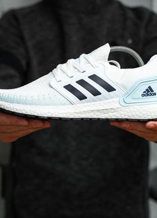 Кроссовки мужские adidas голубые/белые (адидас, кросівки)