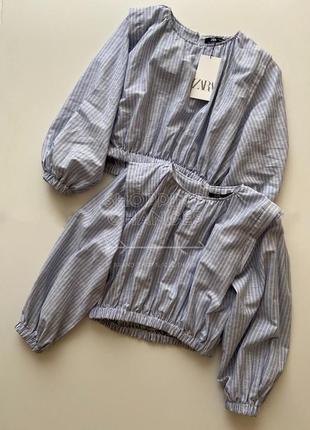Идеальные летние блузки под джинс zara xs, s. коттон/лён