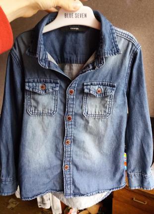 Джинсовая рубашка джисовка