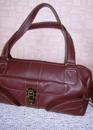 Стильная повседневная сумка из натуральной кожи. tommy & kate