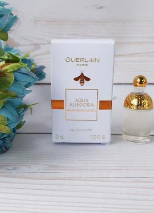 Guerlain aqua allegoria mandarine basilic миниатюра 7,5 мл