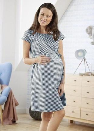Платье х\б для беременных 42-46 р.