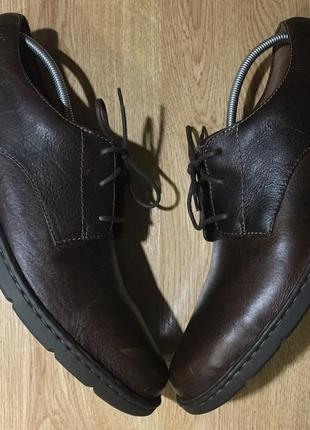 Большой размер(53-55)туфли великаны clarks ecco(стелька:35-35.5см)
