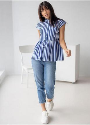 Рубашка в полоску, полосатая блузка рубашка