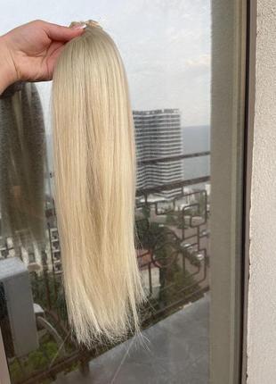 50 см премиум волосы блонд для наращивания