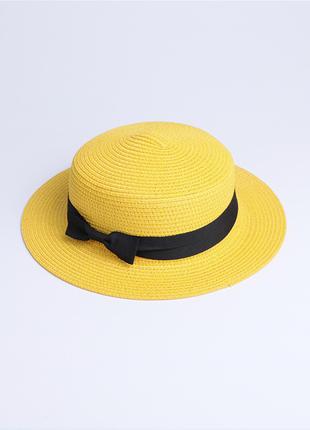 Шляпа канотье желтая!
