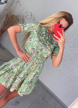 Платье лето цветочный принт