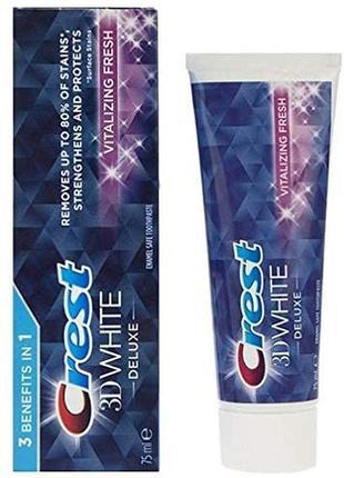 Зубная пастаcrest 3d white deluxe toothpaste vitalizing fresh