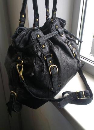Кожаная сумка asos