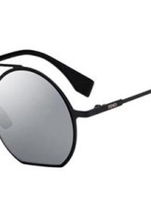 Fendi солнцезащитные очки оригинал италия ff0291 унисекс черные базовая коллекция
