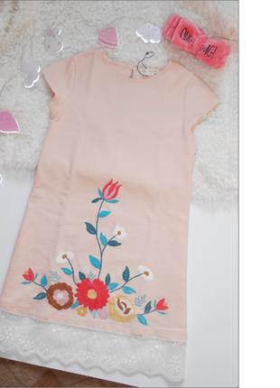 Нарядное детское платье 11-12 лет с вышивкой от zara