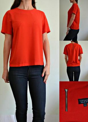 Красная блуза -плотная ткань 10