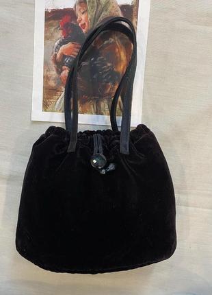 Винтажная велюровая сумочка
