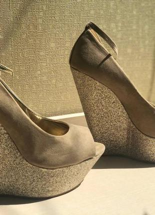 Туфли на платформе call it spring с открытым носком