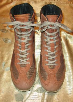 Ботинки ecco gore-tex оригинал р. 40 кожаные зимние