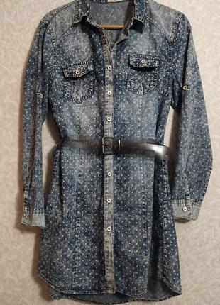 Плаття рубашка джинсове s
